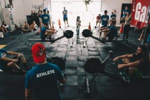 Image of gym filled with people and equipment