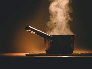 Steam rising from cooking pot can cause issues that call for condensation solutions