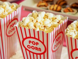 Three cinema tubs of popcorn for UK viewers